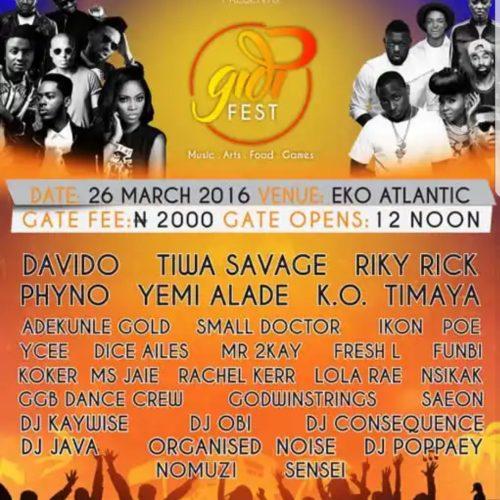 Gidi Fest Flier 2016