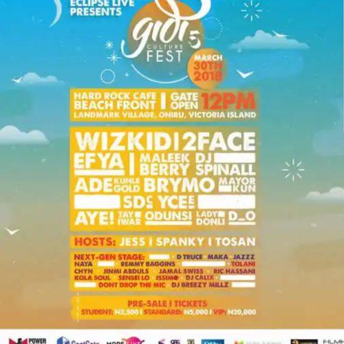 Gidi Fest Flier 2018