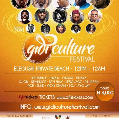 Gidi Fest Flier 2014